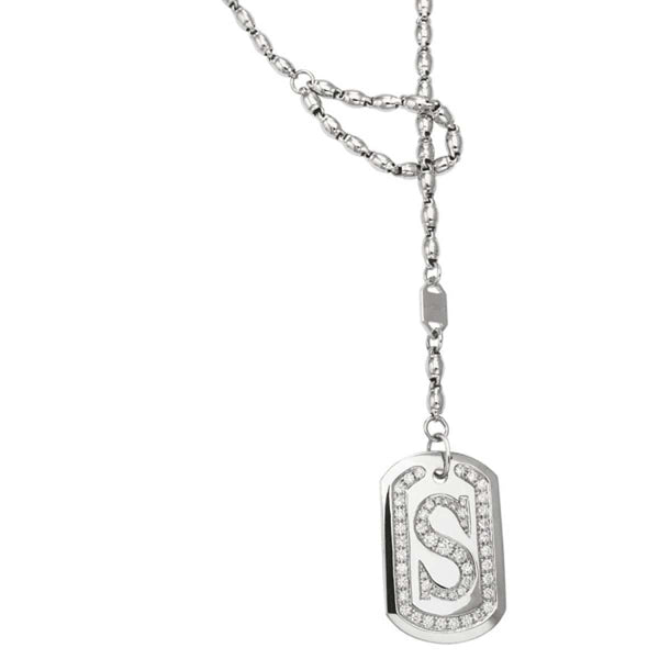 DIAMOND MONOGRAM  DOG TAG - Chris Aire Fine Jewelry & Timepieces