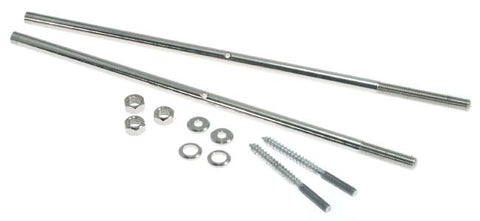 Co-Ordinator Double Rod Set, Nickel Plated