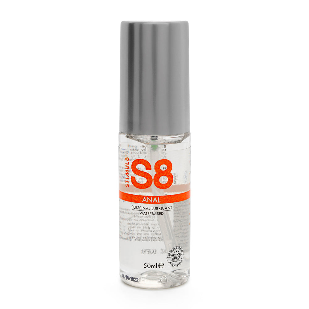 S8 Water Based Anal Lube 50ml