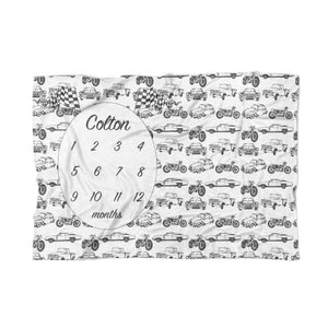 Vintage Cars Milestone Blanket - Tiny Whiney