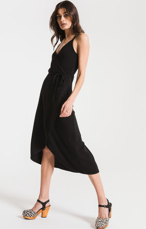 The Solid Wrap Dress