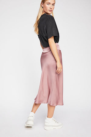 Normani Bias Skirt - Dsty Mauve