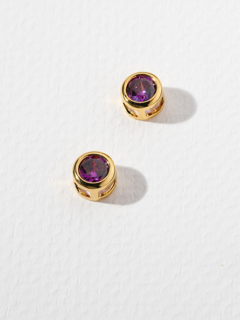 The Bardot Purple Earrings