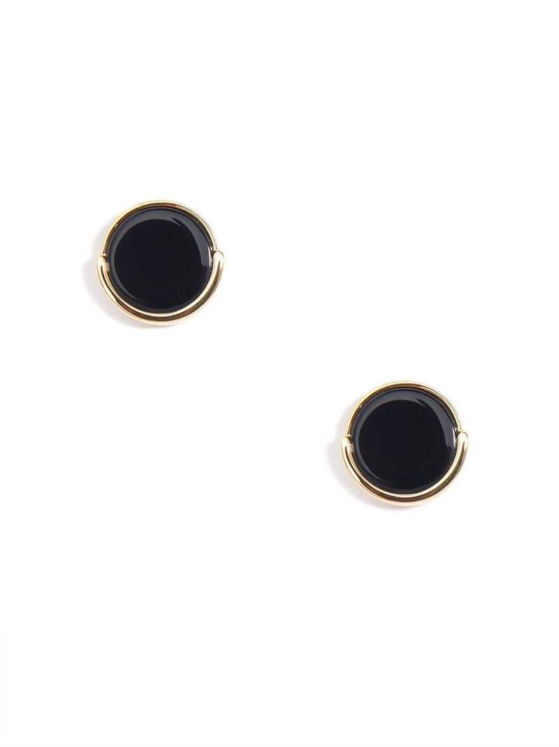Gold Trimmed Stud Earrings