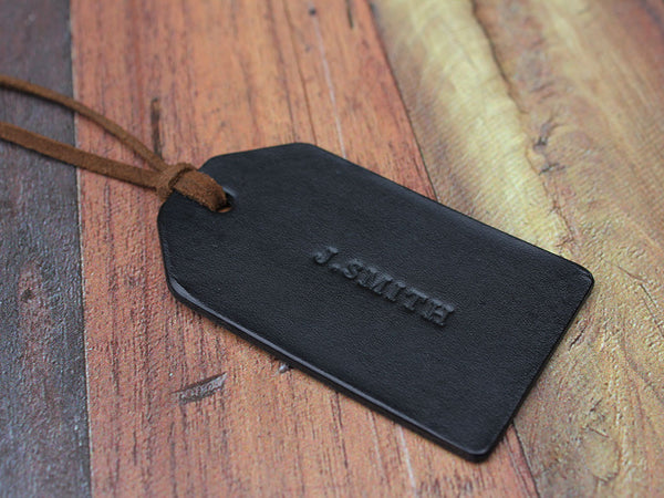 Custom Leather Travel Tag - Hide & Home - 1