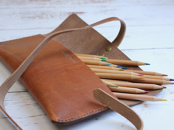 Leather Pencil Case - Horween Dublin