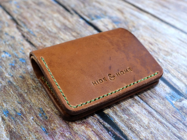 Leather Bi-fold Popper Wallet - Horween Dublin