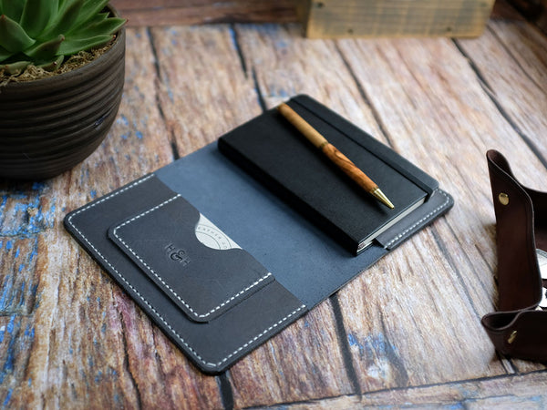 Leather Notebook Cover A6 - Tempesti