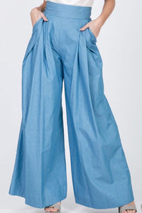 High Waist Pleated Palazzo Pant