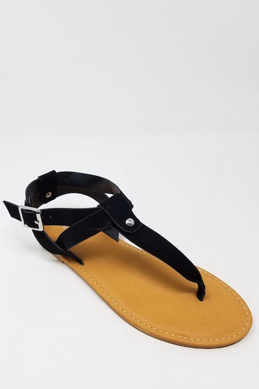 Thong Sandal with Ankle & Counter Strap