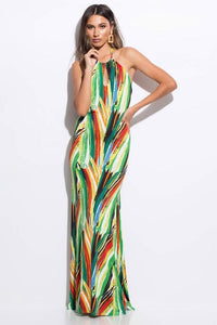 Halter Neck Long Dress