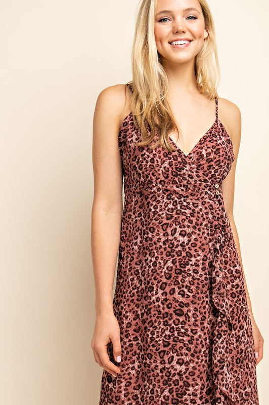 Chiffon Leopard Dress