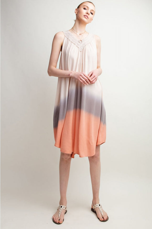 Multi Dip Dye Dress