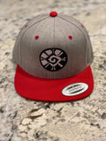 Snapback Hats - Hunab Ku Grey and Red