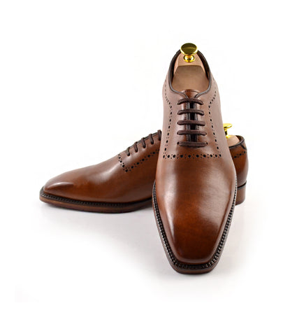 Wholecut Oxfords - Brown - The Dapper Man