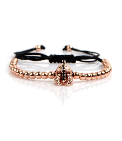 Spartan Rose Gold CZ Charm Bracelet - The Dapper Man