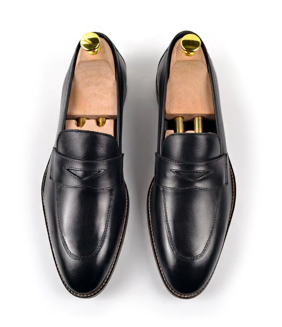 Black Penny Loafers - The Dapper Man