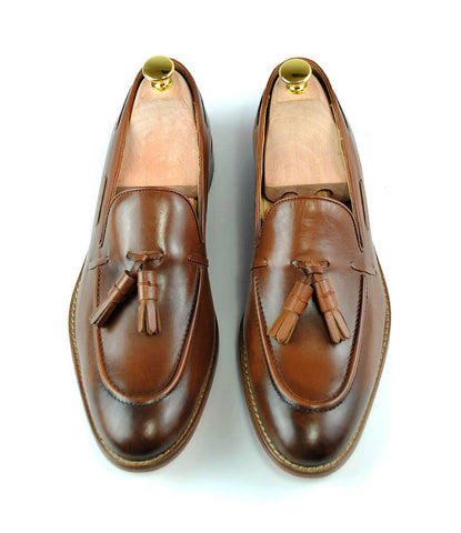 Cognac Tassel Loafers - The Dapper Man