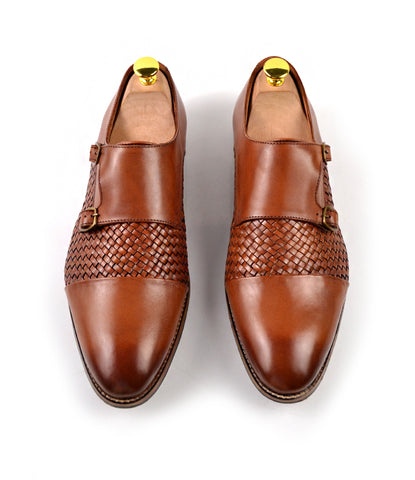 Handwoven Double Monk Straps - Brown - The Dapper Man