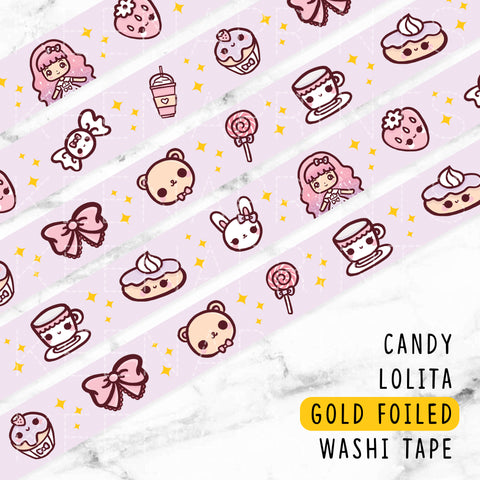 RED WIZARD WONDERLAND GOLD FOILED WASHI TAPE - WT007