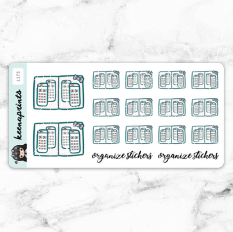 PLANNER NAUTICAL LOLITA DAILY STICKERS - L234