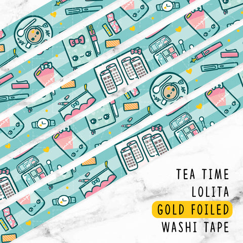 SALMON DREAMS GOLD FOILED WASHI TAPE - WT026