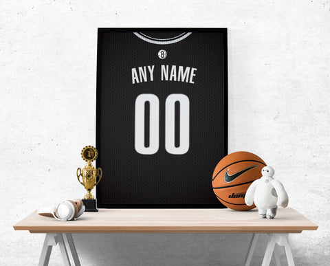 Brooklyn Nets Jersey Poster - Print Personalized Select ANY Name & ANY Number - PixArtsy