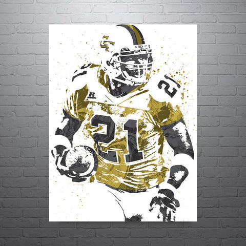Calvin Johnson Georgia Tech Poster - PixArtsy