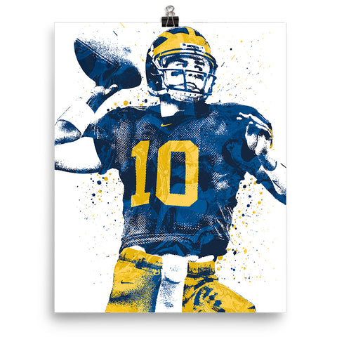 Tom Brady Michigan Poster - PixArtsy