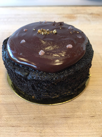 "4"" double chocolate cake--serves two"