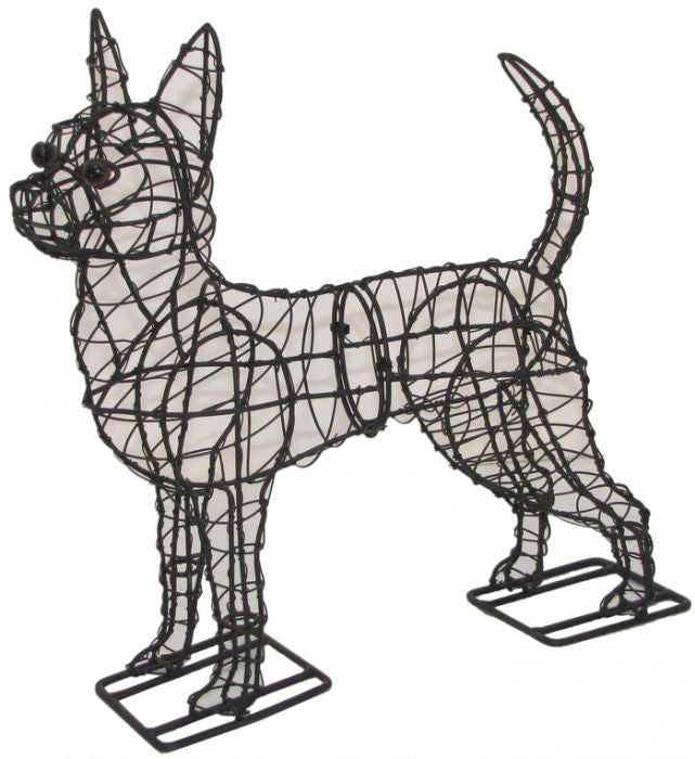 Chihuahua Topiary Wire Frame