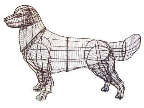 Golden Retriever Topiary Wire Frame