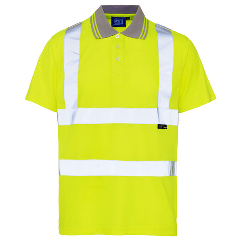Supertouch Hi Vis Polo Shirt - Yellow - Worklayers