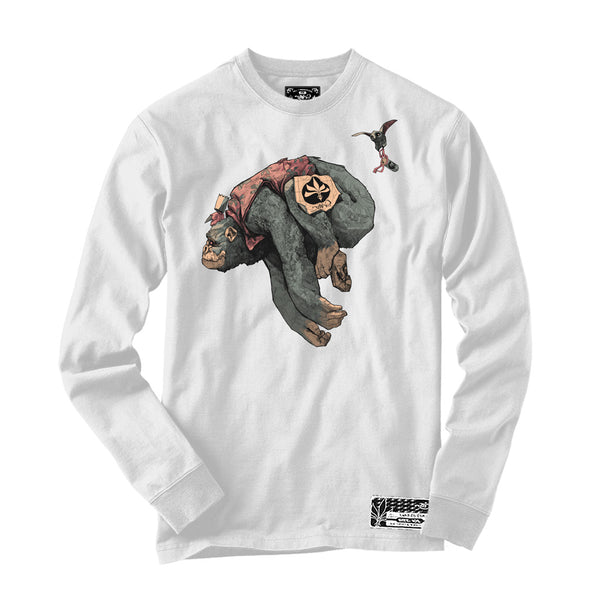 Long Sleeve - Howler Gorilla - White