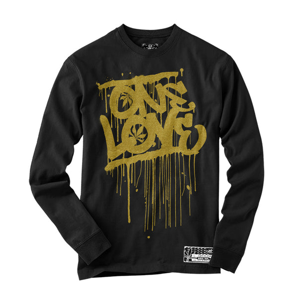 Long Sleeve - One Love - Black / Gold
