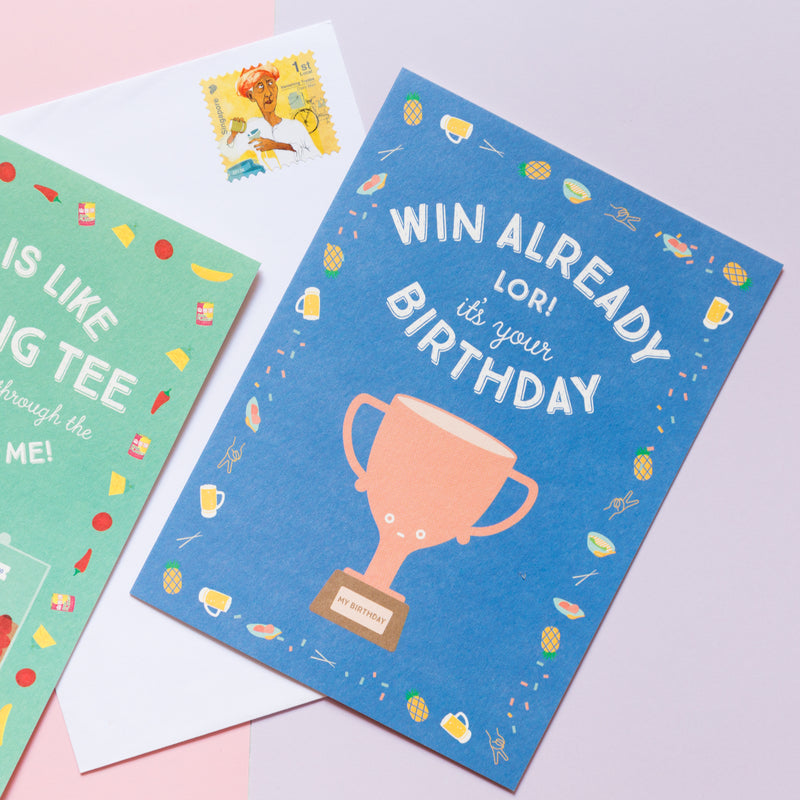 Win already lor! Birthday Card