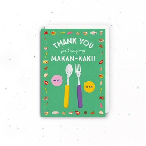 Makan Kaki Thank You Card