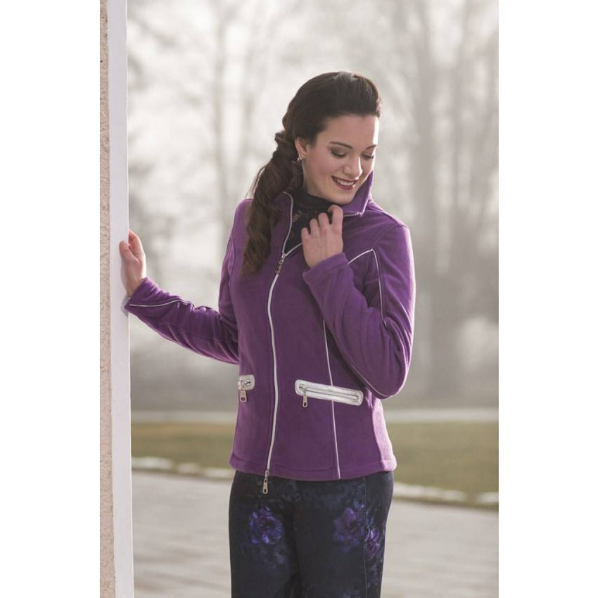 Lilac coloured sweat jacket