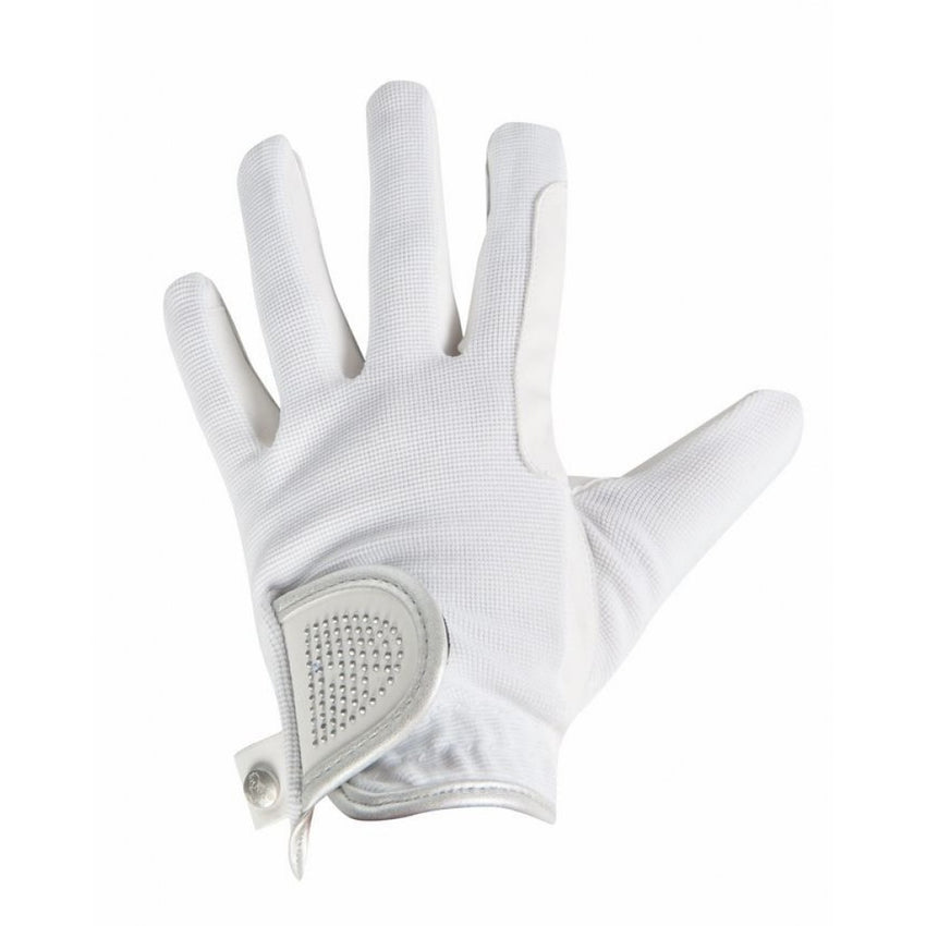 White Riding Gloves