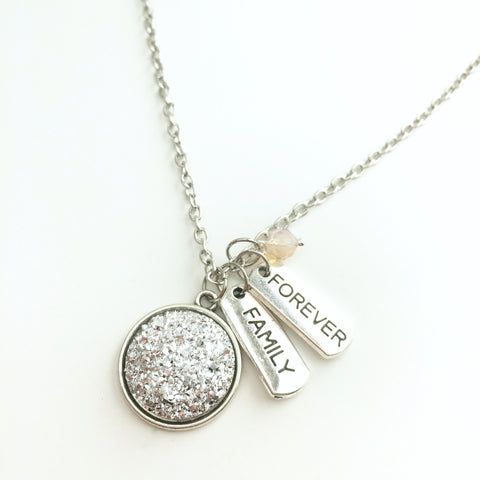 Druzy Forever Family Necklace