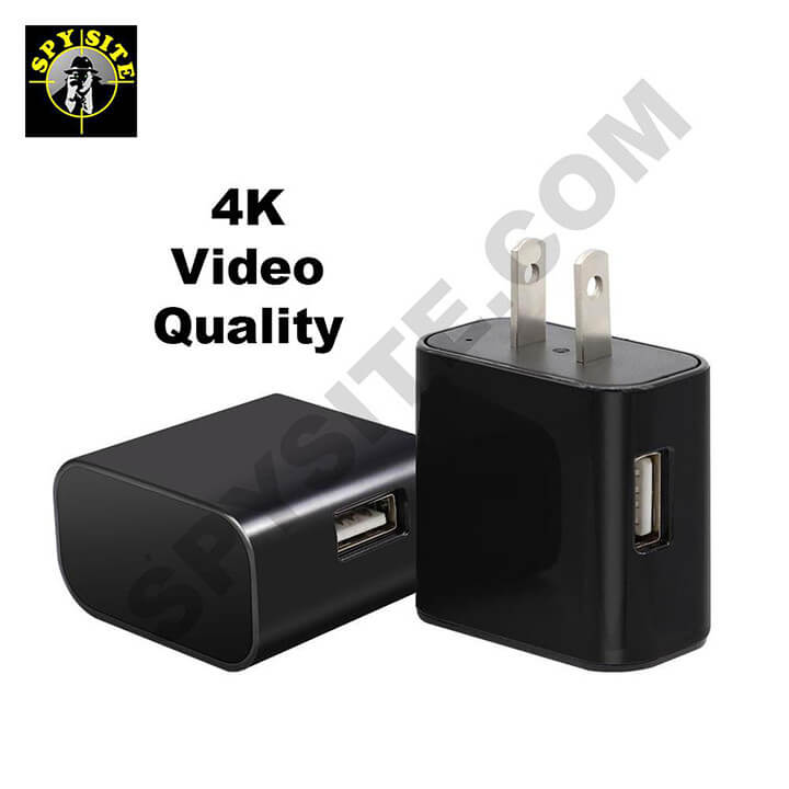 4K WiFi Spy Functional Phone USB Charger Camera with Night Vision - Phone Charger Spy Cam