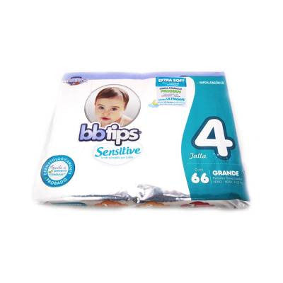 Bbtips Sensitive Disposable Diapers Size 4 (66 ct)