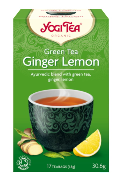 Yogi Organic Green Tea:  Ginger & Lemon for Meditative Alertness
