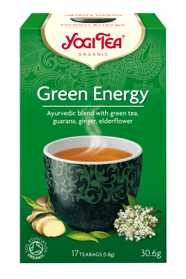 Yogi Organic Green Energy Tea: Green Tea, Guarana, Ginger & Elderflower
