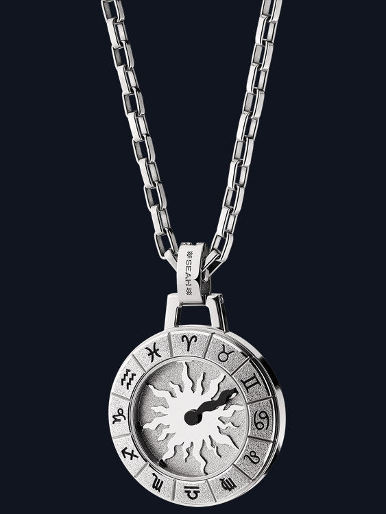 Men's Astrology Necklace with Sun Design NM-SP-SS