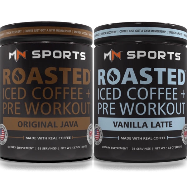 Roasted Pre Workout Two Tub Bundle (Original Java & Vanilla Latte) - MN Sports - 1