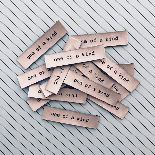'One Of A Kind' woven labels