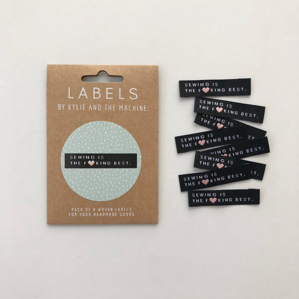 'Sewing Is The F*cking Best' woven labels
