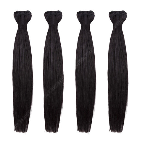 BRAZILIAN HAIR WEAVE 100% REMY Hair Straight #1 Black Espresso
