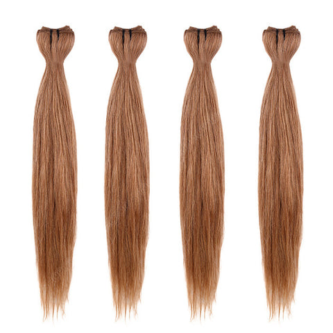 BRAZILIAN HAIR WEAVE 100% REMY Hair Straight #12 Light Chestnut Brown